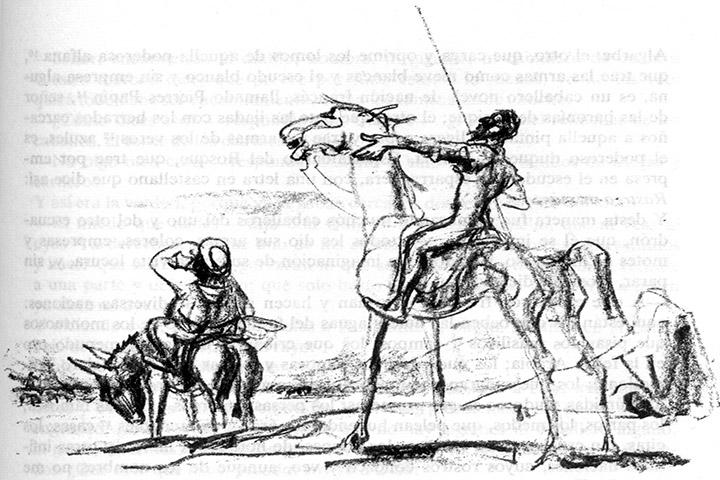 El Ingenioso Hidalgo Don Quijote de la Mancha 1, Descripciones, en libros y novelas, www.librosynovelas.es
