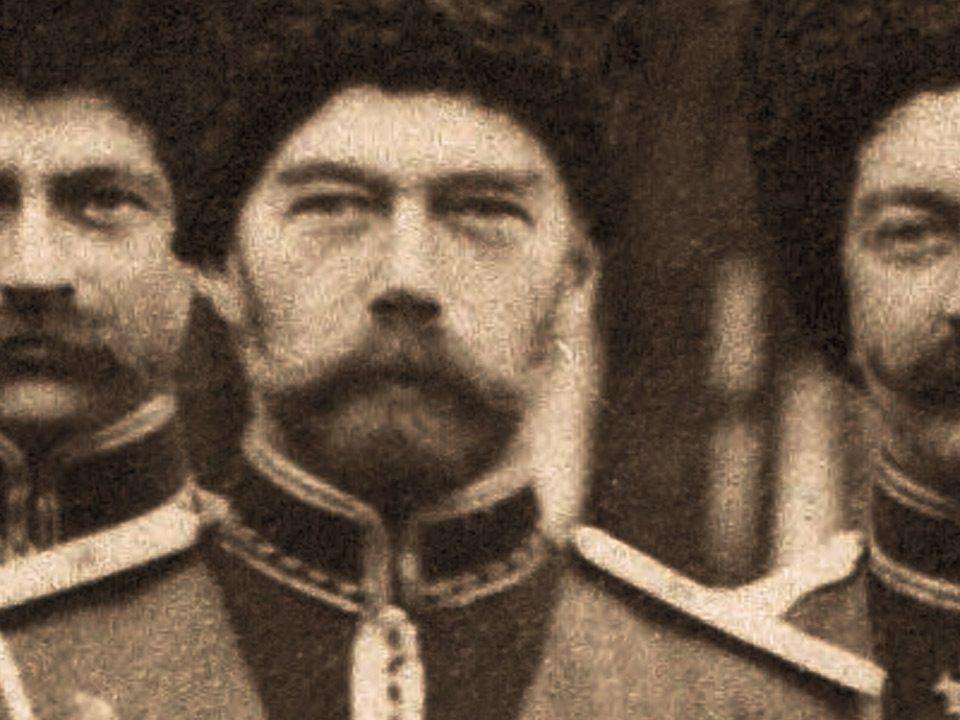 La estepa de Añil. Nicolas II con cosacos de su guardia. Descripción, librosynovelas