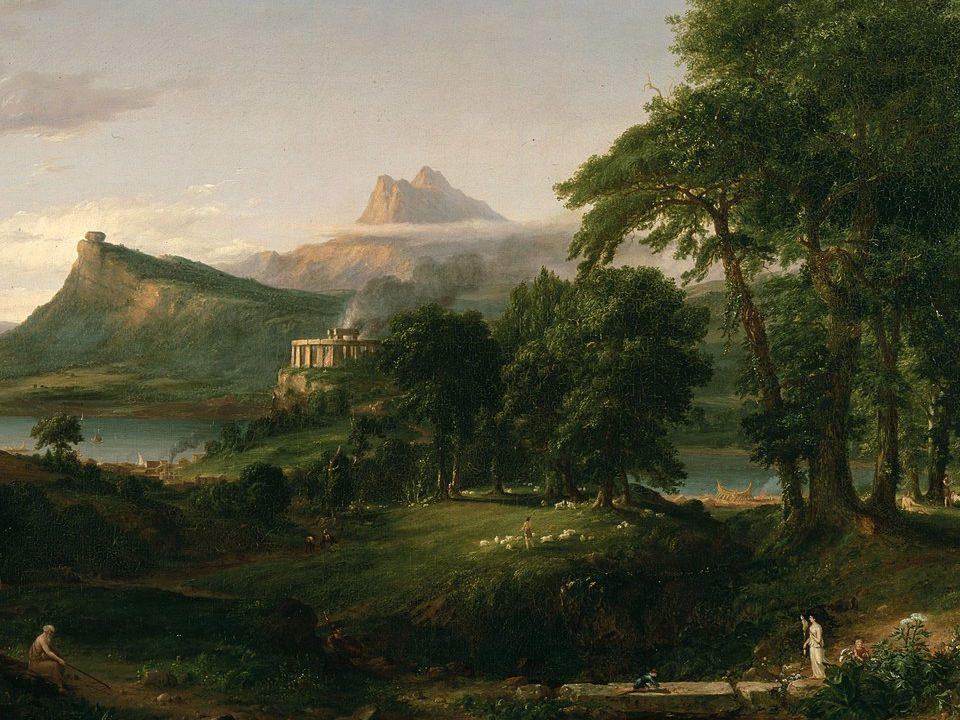 La Arcadia, Thomas Cole. Crítica de libros, librosynovelas